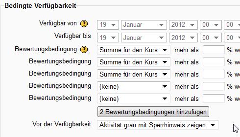 Datenbank in Moodle2.x